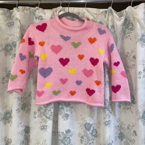 Pink seater with hearts
